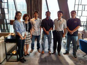 CNCERT engineers & management - (L-R) Dr Hu Jun, Ji Yuchun, Jansen (APNIC), Adli (APNIC) Dr Yan Hanbing (Deputy Director), Li Jia