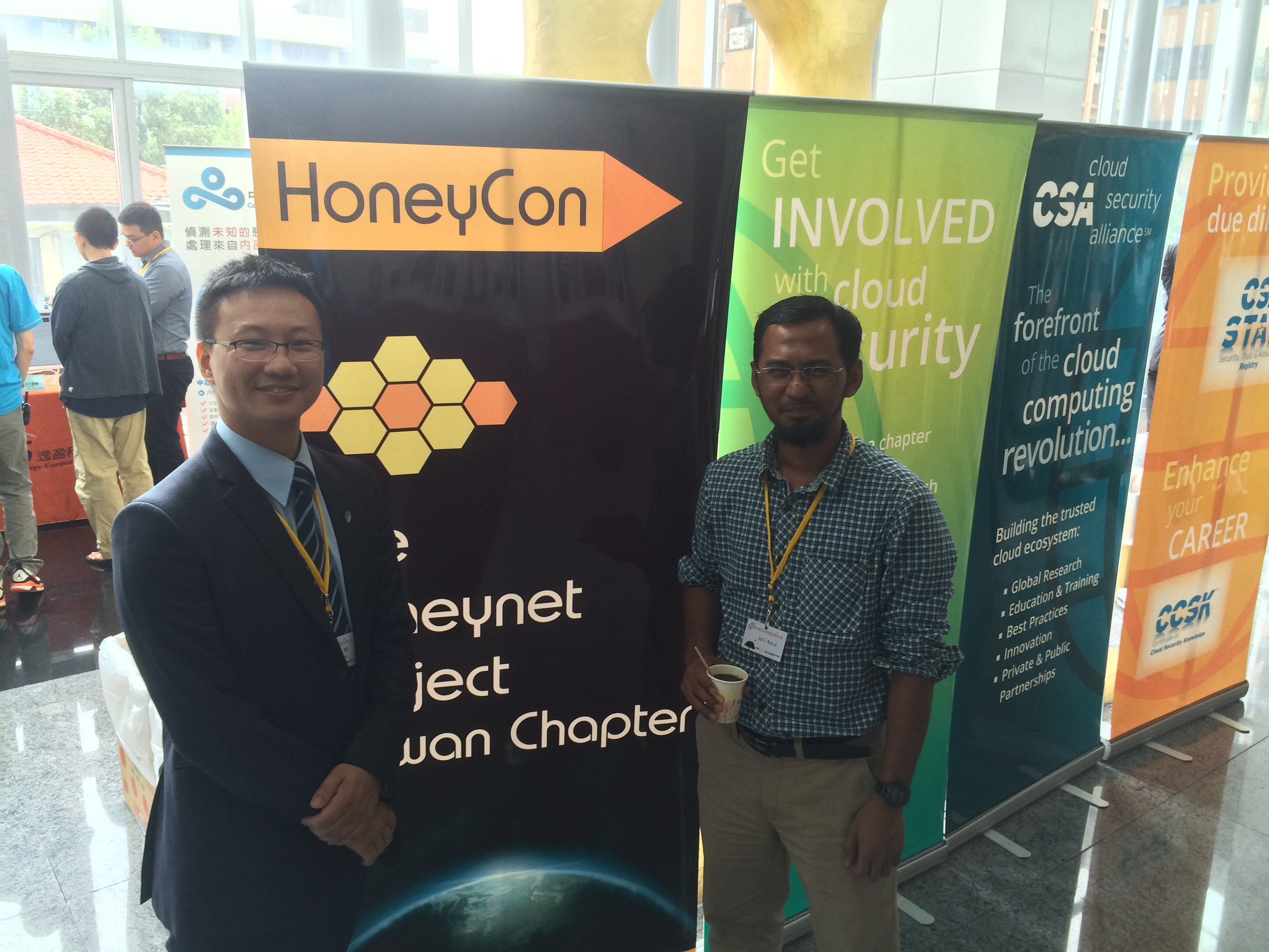 With Steven Tsai - very good friend, CSA Taiwan Chapter, Advisor to the TWNCSIRT, Honeynet Project Taiwan Chapter leader!