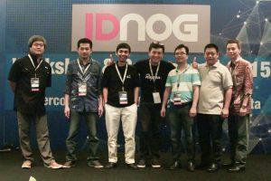 IDNOG committee 2015, left to right: Valens Riyadi, Harijanto Pribadi, Wita Laksono, myself Willy Sutrisno, Rommy Kuntoro, Parlin Marius, Freddi Pinontoan (missing Agus Ariyanto)