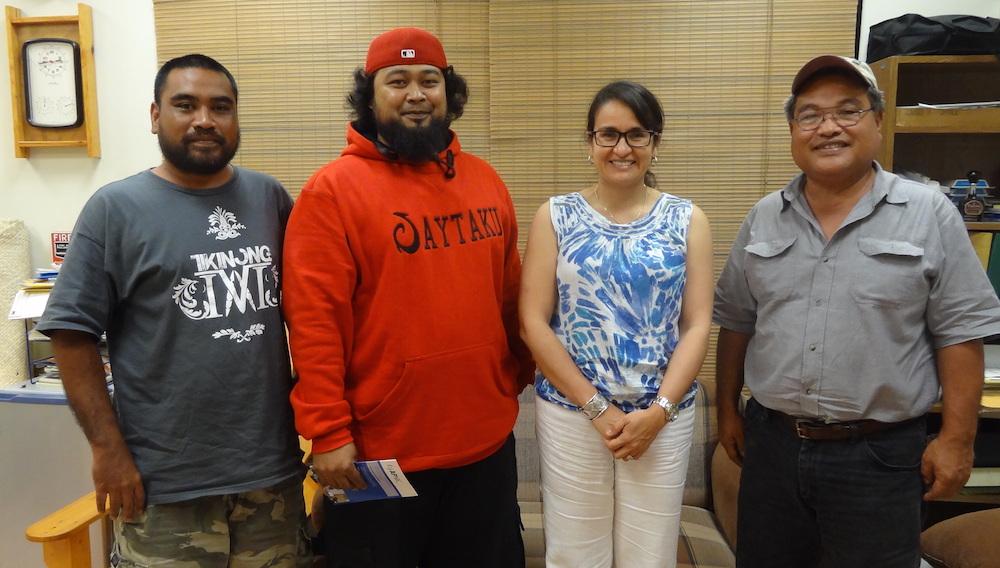 [Left to right] TR Mori, Isolutions Micronesia, Minoru R. Mori, FSM Telecom Chuuk State Manager, Sylvia Cardena, JJ, FSM Telecom IT manager.