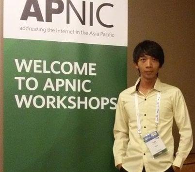 Teav was a fellow at APNIC 40, Jakarta