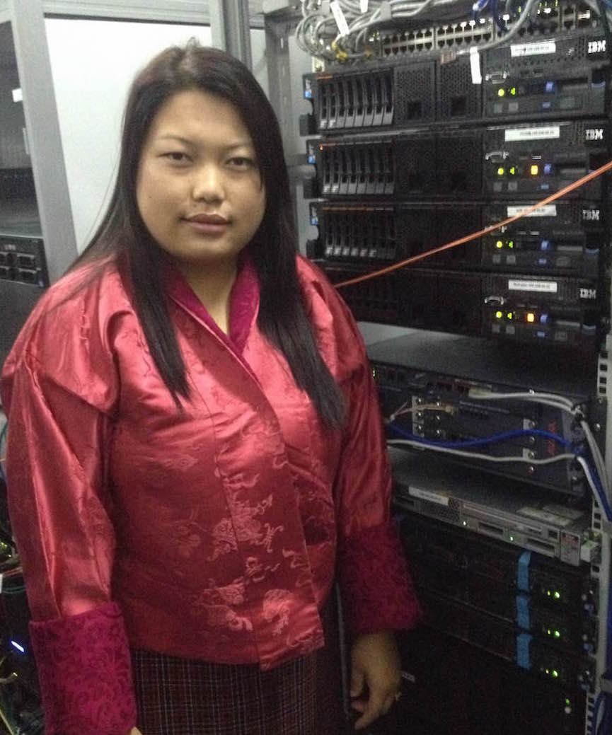 Sonam Keba works as a system administrator for Bhutan's largest service provider, Bhutan Telecom