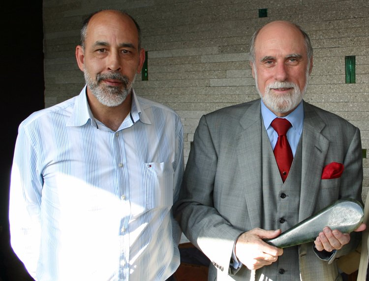 Keith Davidson with Vint Cerf
