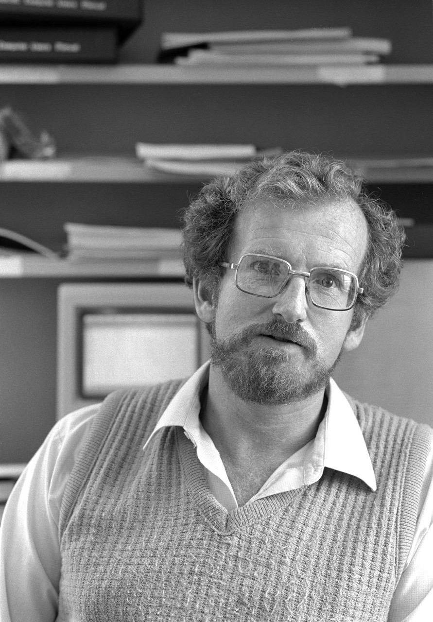 John Hine at Victoria University, 1986
