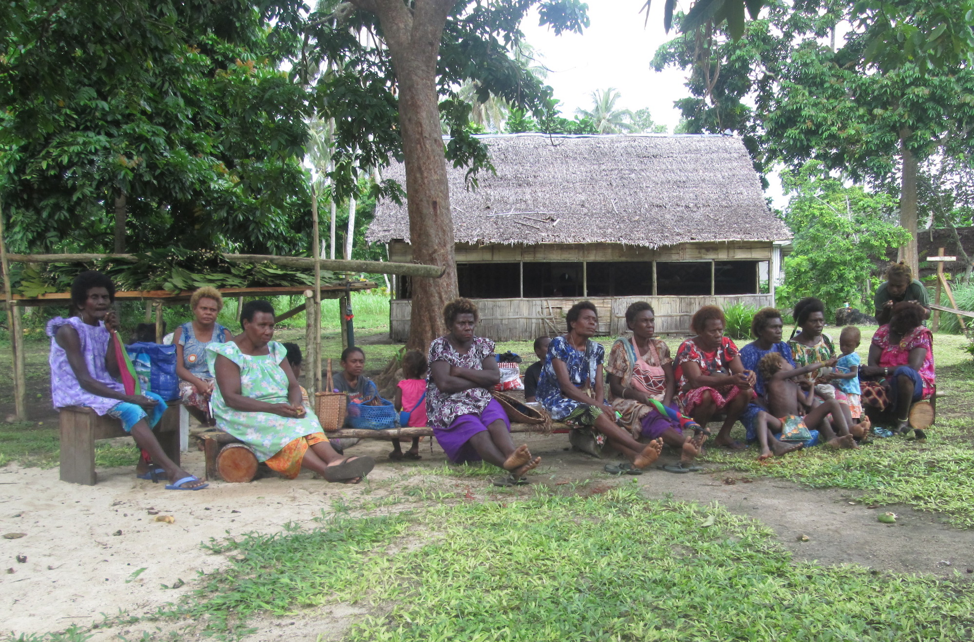 Women gathering in Luapul Village, Central New Ireland, New Ireland Province, Papua New Guinea | Courtesy of Dennis Plinduo