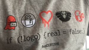 The AusCERT 2016 shirt.