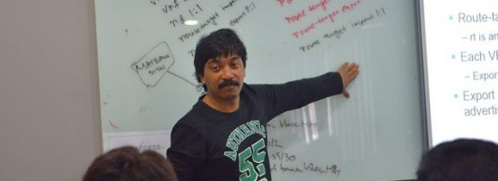 Moin sharing his skills as Community Trainer in a workshop in Malaysia