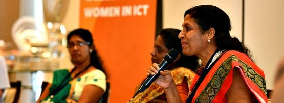 Prof. Mahesha Kapurubandara shares her views at the APNIC 42 Women in ICT session.