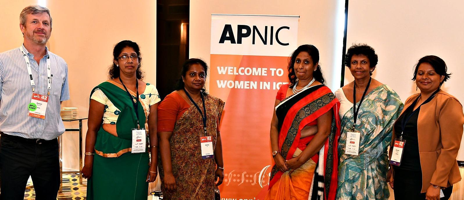 Duncan Macintosh and Women in ICT panelists
