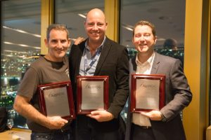 The AusNOG founders - Steve Baxter, David Hughes and James Spenceley