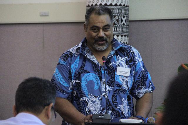 Fred Christopher, PITA, speaking at PacNOG 19.