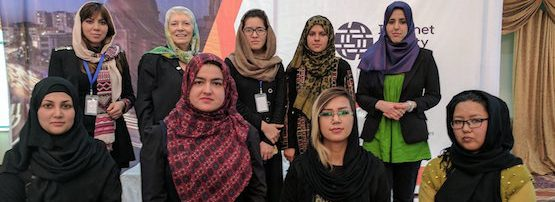 The Afghan DNS Women at IGF Afghanistan 2017.