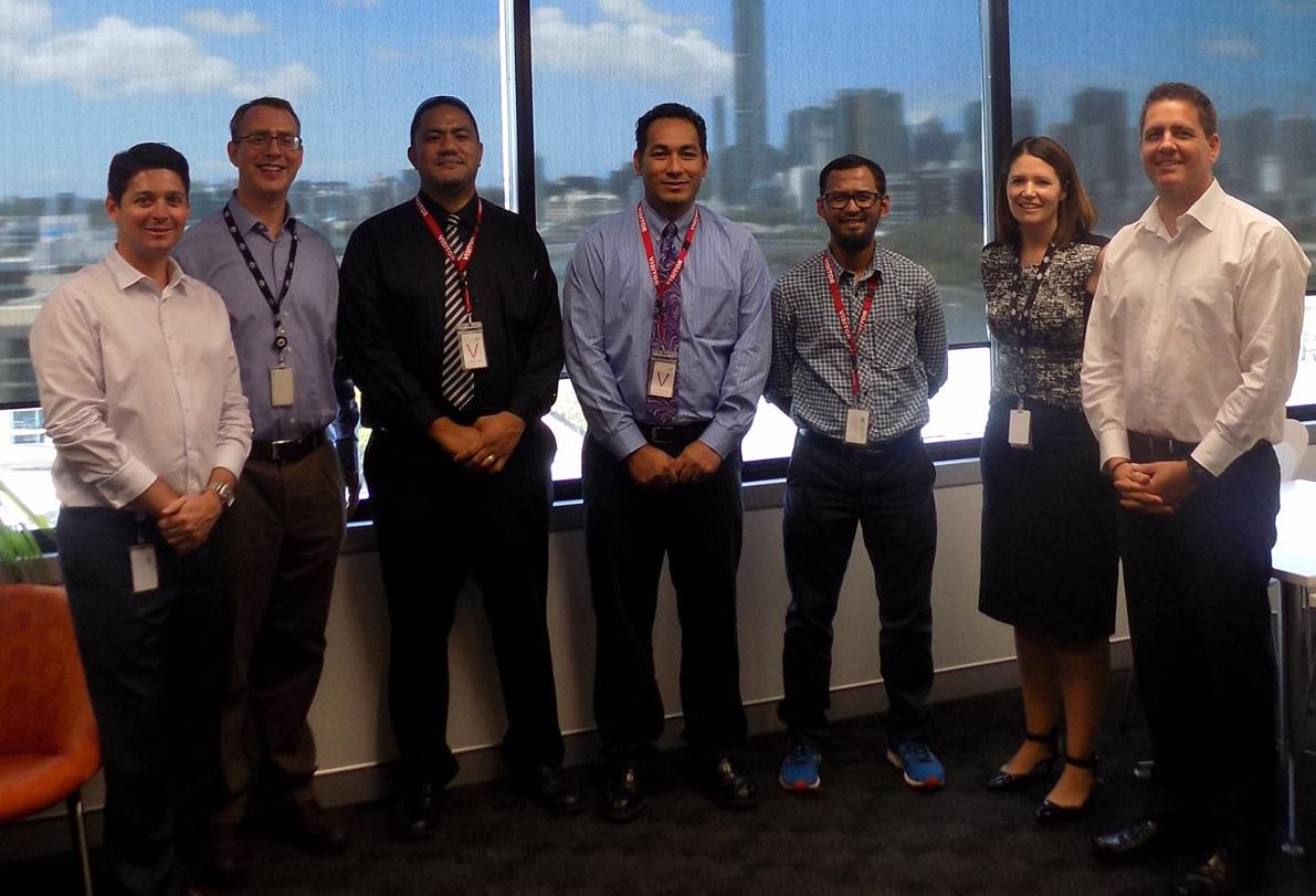 Saia, Paula and Adli with representatives of CERT Australia.