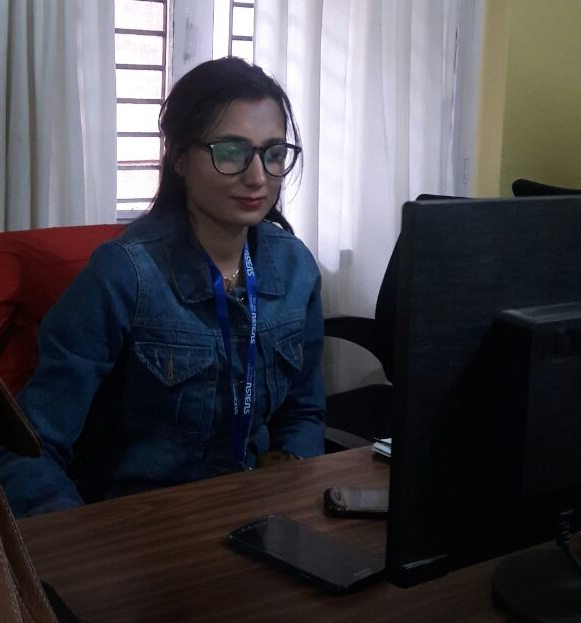 Astha Ghimire, a wireless engineer for Subisu Cablenet Pvt Ltd, says: 'I love what I do.'