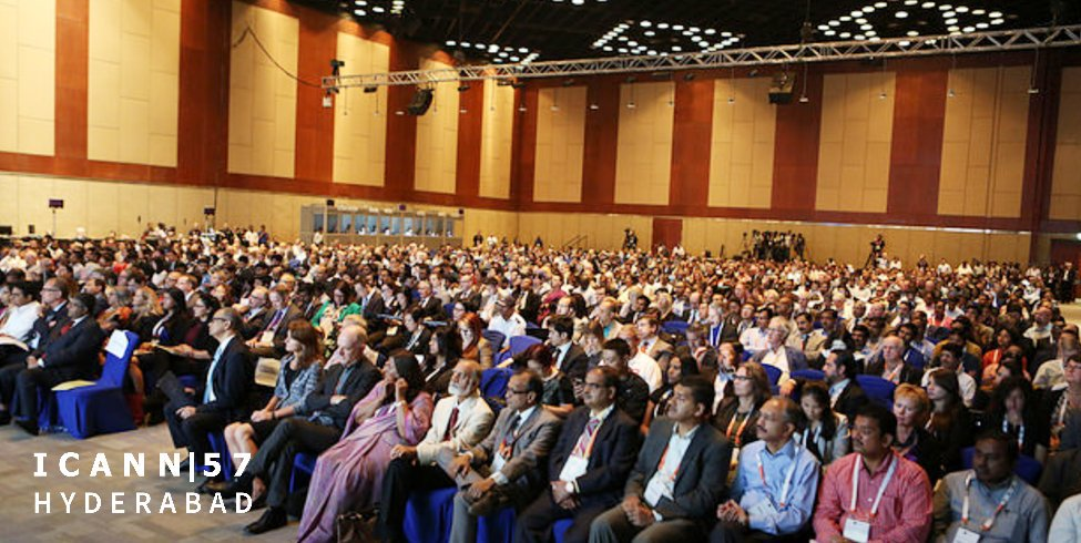 The last ICANN meeting held in the APNIC region was also the largest ever. ICANN 57, held in Hyderabad, India, attracted 3,141 delegates. Image courtesy ICANN.