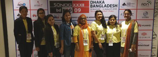 Fellowship recipients at SANOG 32.