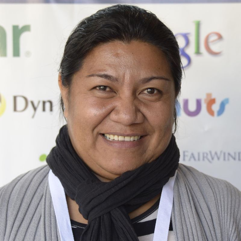 "Tenanoia Veronica Simona is a Manager at Tuvalu Telecom. She says, ""There is a bright future for Pacific women in the ICT and Telecommunications' industries, if they are given opportunities to be involved"". Image: ICANNWiki"