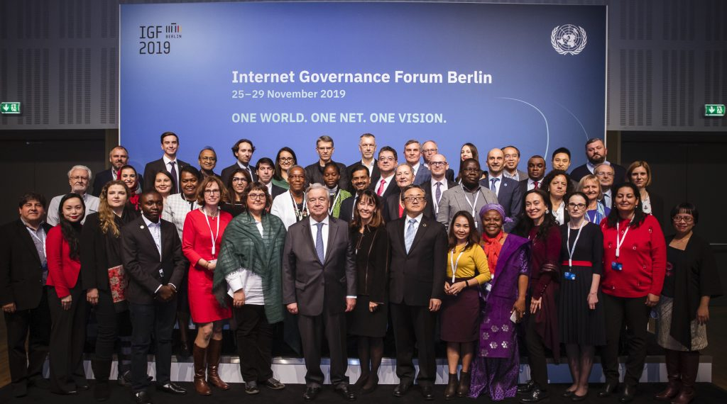 Group photo of the members of the 2019-2020 IGF Multistakeholder Advisory Group.