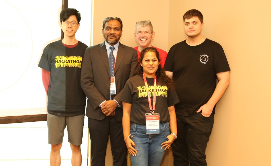 Team Alchemy (left to right): Shen Loh, Ziyam Abdeen, Ken Taylor, Jeewanthi Hettiarachchi, Nick Pratley