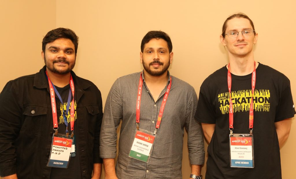 Team BGP Squelch (left to right): Mohommed Inshath, Washif Ahmed, Adam Binneweg.
