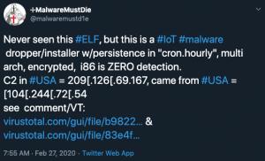 MalwareMustDie tweet