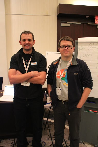 Marcin Siodelski (left) and Tomek Mrugalski (right) at the November 2013 IETF meeting in Vancouver, Canada.