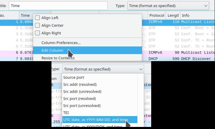 Screenshot showing how to set  Coordinated Universal Time (UTC).
