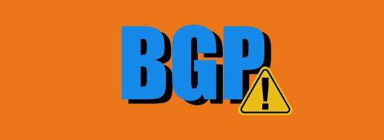 BGP alert sign banner