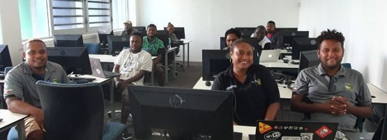An image of the Solomon Islands Government Data Centre team