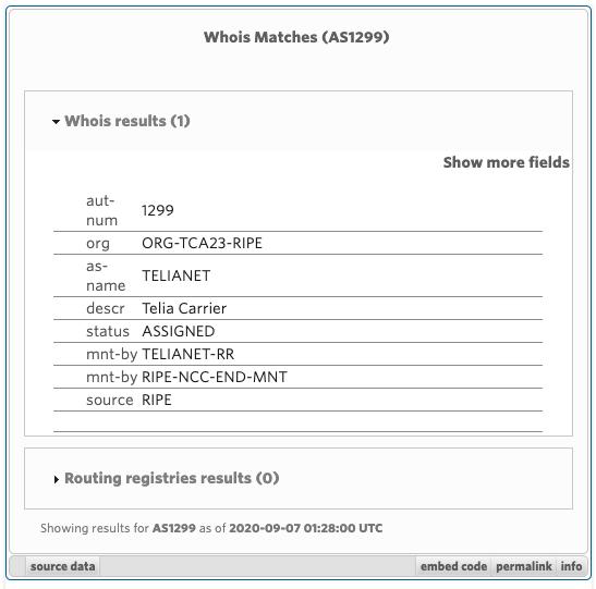 Screenshot of Whois Matches widget