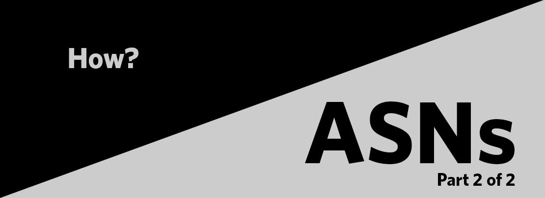 How do we count ASNs?