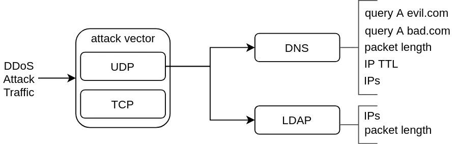 Figure 2 — Identifying DDoS attack characteristics.