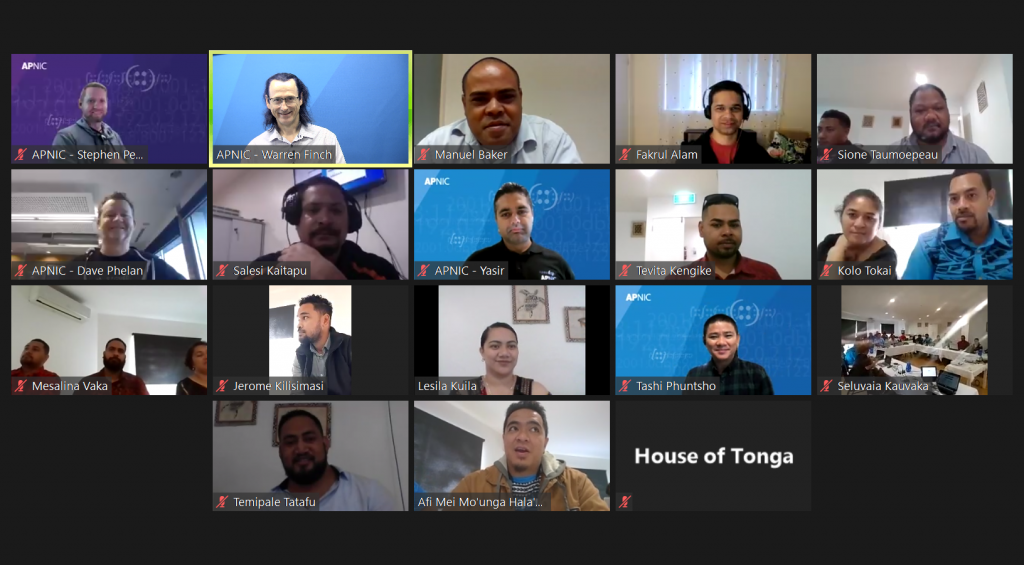 A screenshot of participants and trainers attending the NMM course via Zoom.