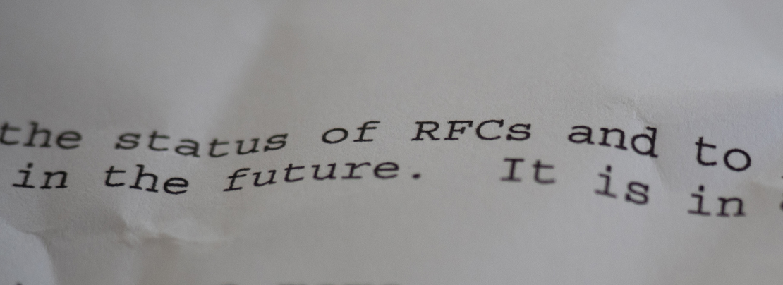 A brief history of the RFC format